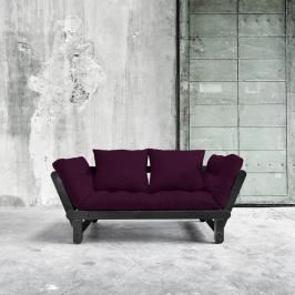 Sofa rozkładana Karup Beat Black/Purple Plum